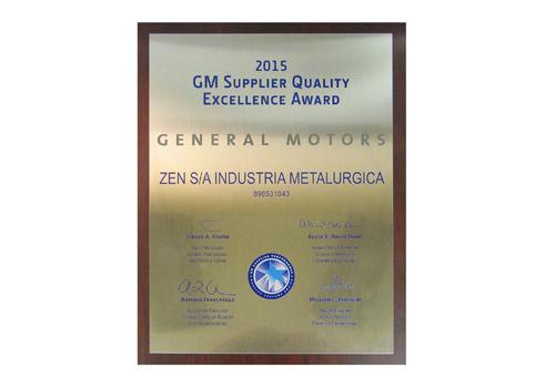 Supplier Quality Excellence Award da GM